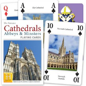 Cathedrals of England & Wales set of 52 playing cards (+ jokers)    (hpc)